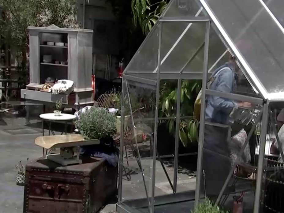 Los Angeles cafe turns parking lot into socially-distanced greenhouse dining pods