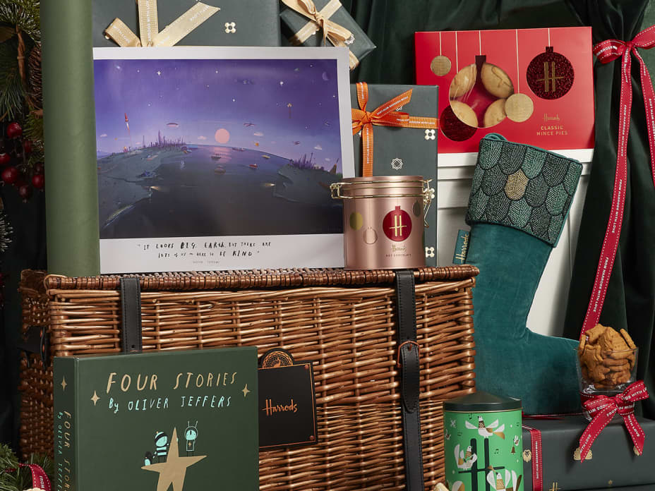 Illustrator Oliver Jeffers partners with Harrods for festive experience