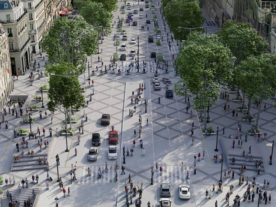 Paris' Champs-Élysées To Become An 'Extraordinary Garden'