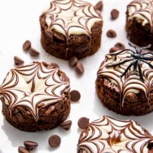 Spider web brownie bites recipe