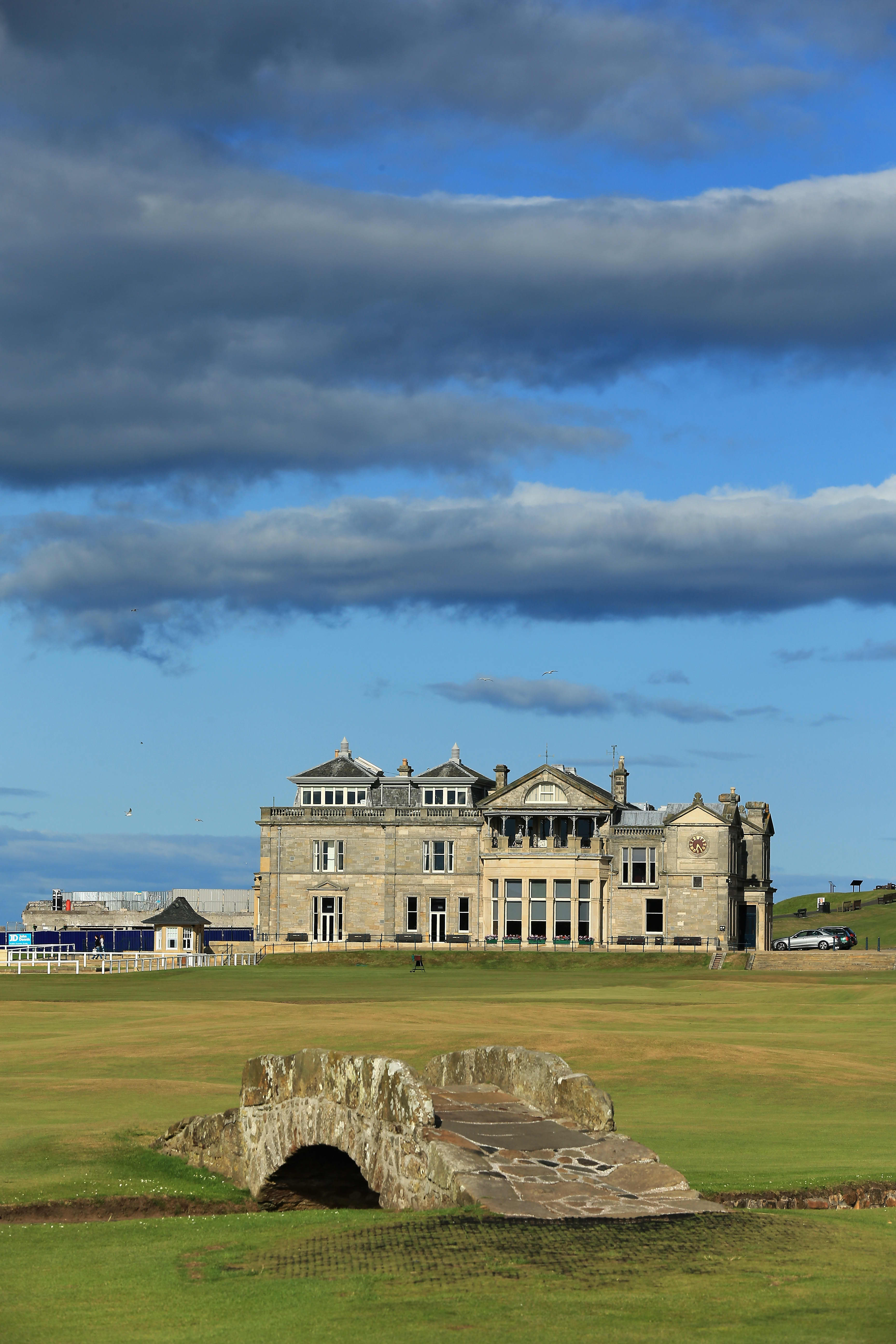 ST ANDREWS, UNITED KINGDOM - JULY 29:  The Swilcab Bridge on the par 4, 18th hole 'Tom Morris' on the Old Course at St Andrews venue for The Open Championship in 2015, on July 29, 2014 in St Andrews, Scotland.  (Photo by David Cannon/Getty Images)