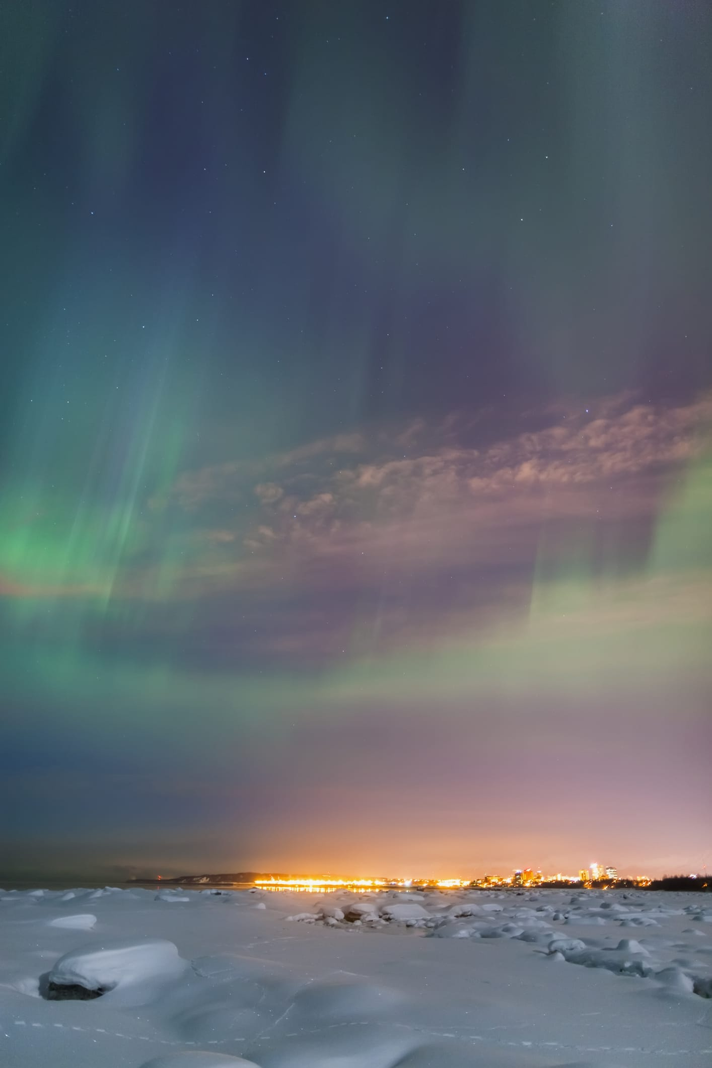 Northern lights over Anchorage