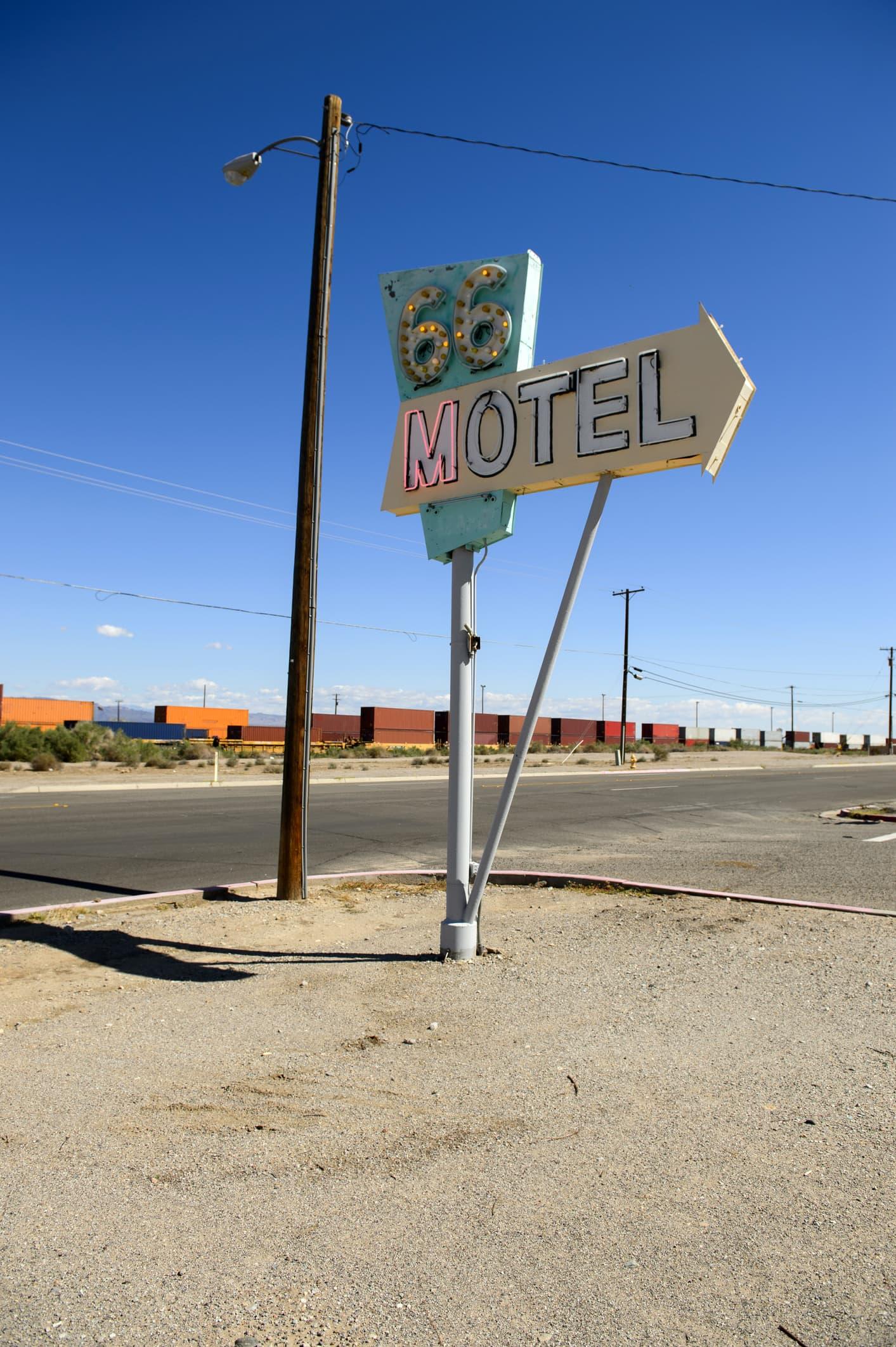 Roadside motel in Needles
